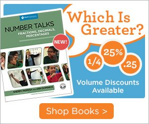 Math Solutions Number Talks: Fractions, Decimals, & Percentages | Which is Greater, Volume Discounts Available - Shop Books