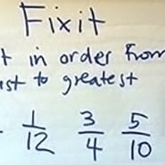 Fixit. Put in order from least to greatest 3/5, 1/12, 3/4, 5/10, 1/3