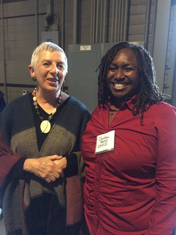 Marilyn Burns mingles with the sharpest and coolest math educators at the Exploratorium!