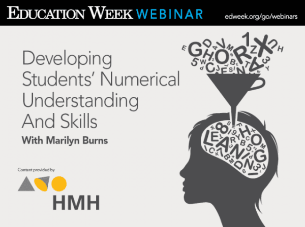 Marilyn Burns Education Week Webinar: Developing Students' Numerical Understanding and Skills