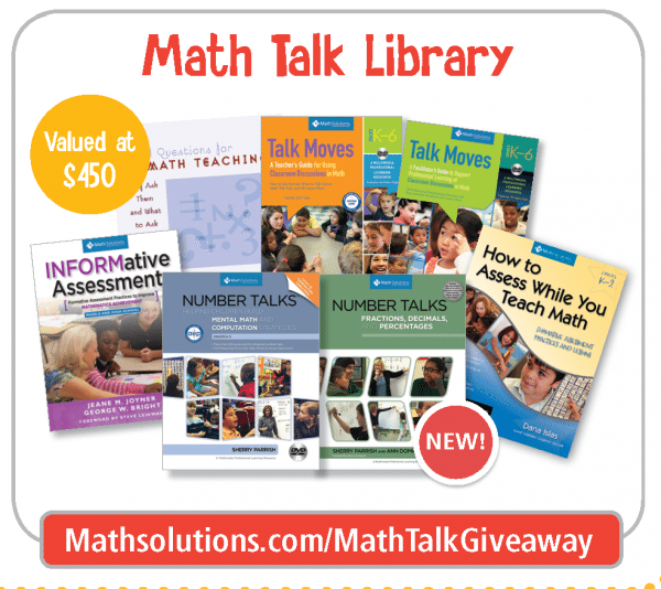 Math Talk Bundle Giveaway