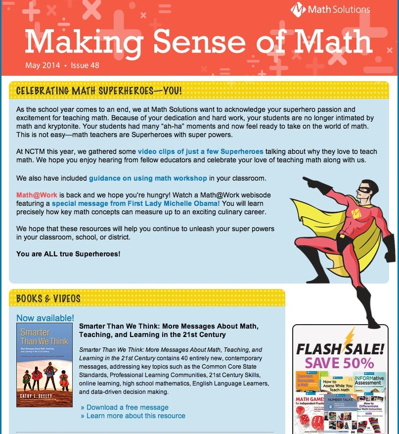 Math Solutions Newsletter