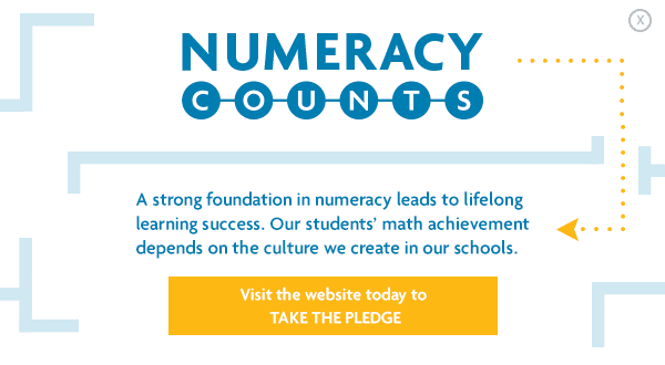 Numeracy Counts - Take the Pledge
