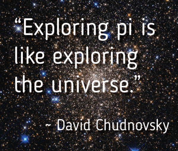 Exploring pi is like exploring the universe