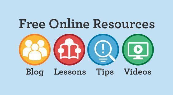 free online resources: blog, lessons, tips, videos