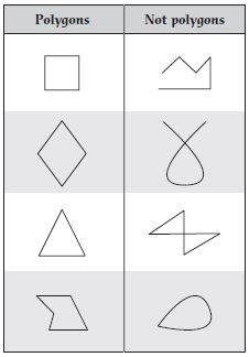 polygons and nonpolygons chart