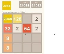 Screen shot of a phone screen, where the user was able to successfully play and win the game 2048, purchased from an app store.