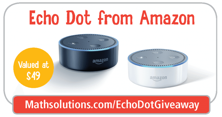 Amazon Echo Dot NCTM Giveaway