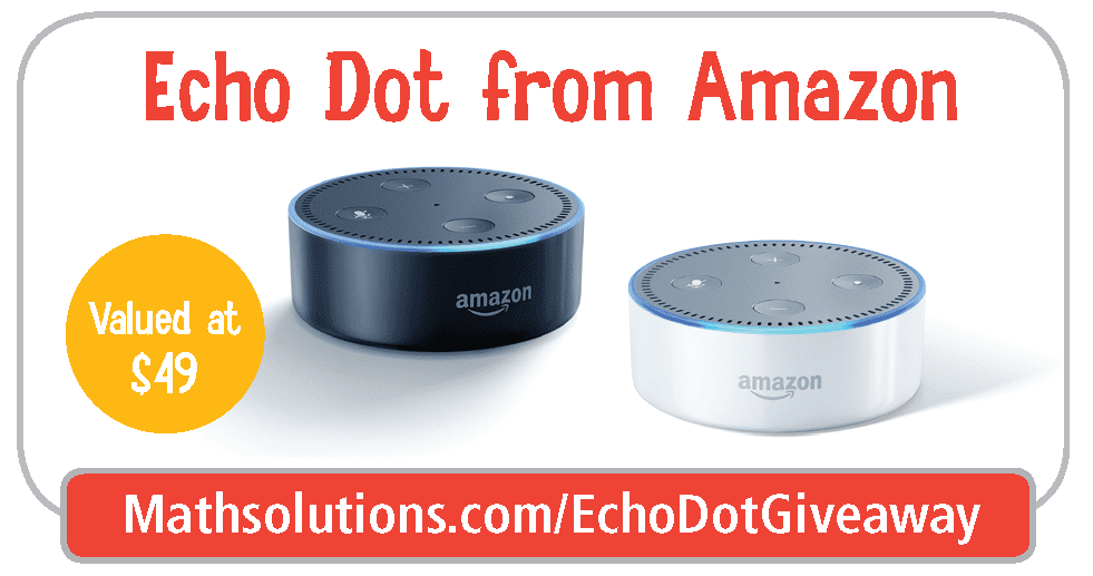 Amazon Echo Dot NCTM Giveaway