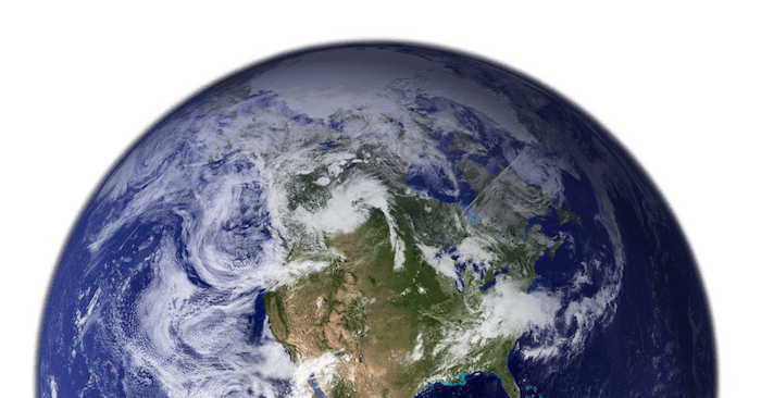 photo image of half of the planet earth | Earth Day Math Activities