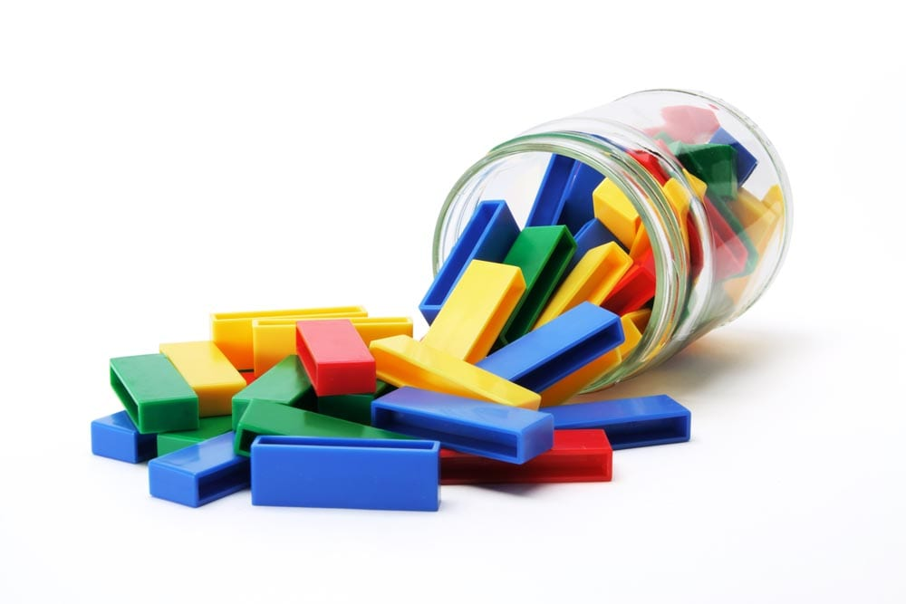 Building Blocks in Glass Jar