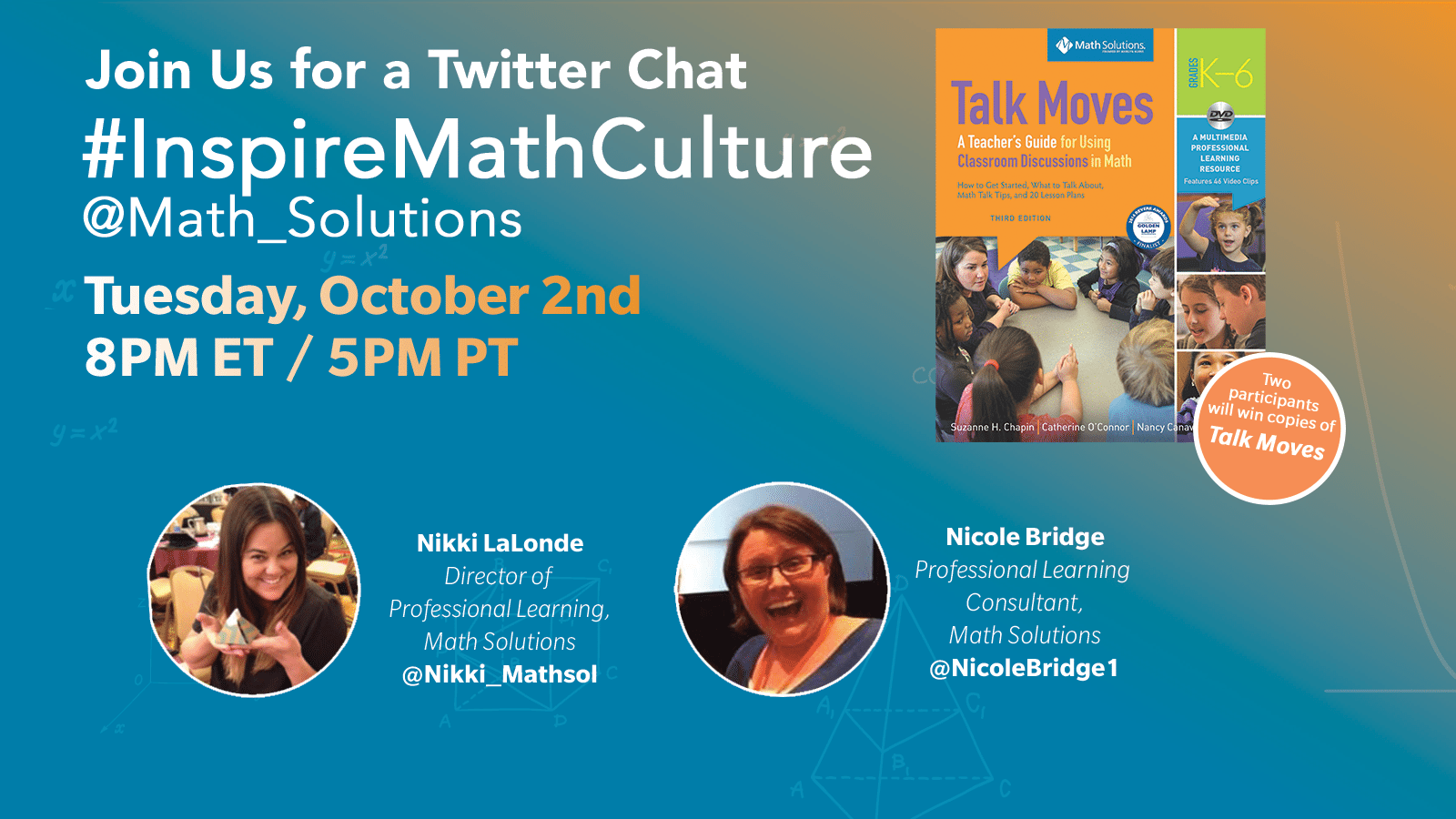 #InspireMathCulture Twitter Chat October 2nd 2018