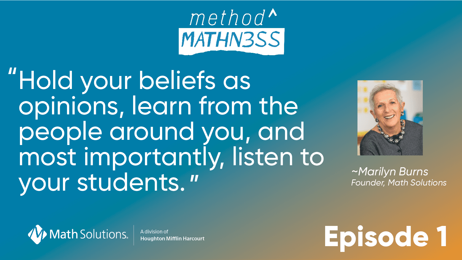 Hold your beliefs as opinions, learn from the people around you, and most importantly, listen to your students.