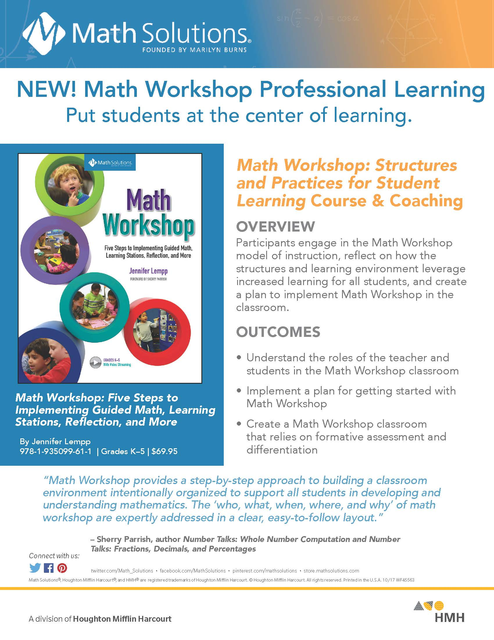 Learn more about our Math Workshop Professional Learning Solutions