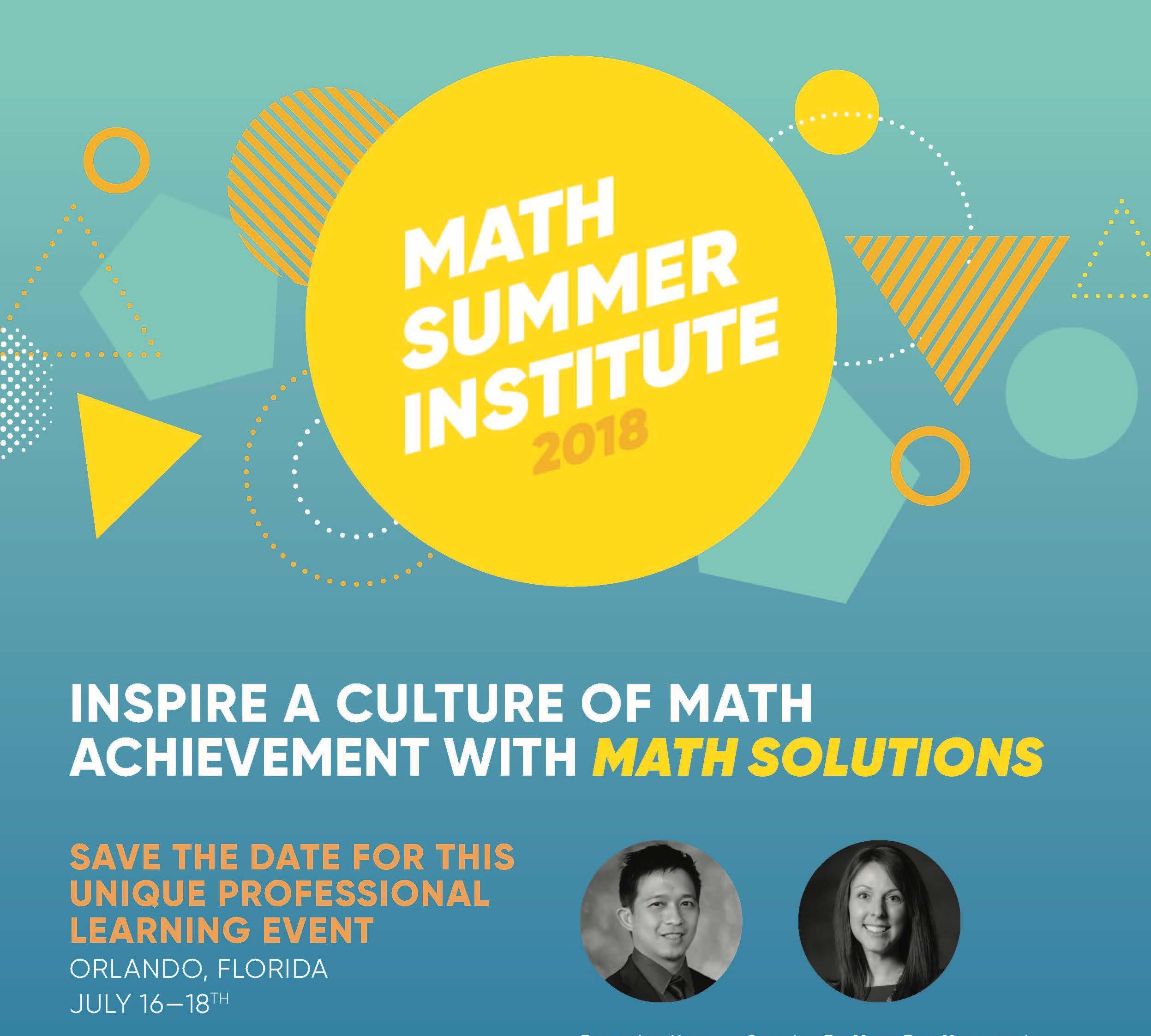Math Summer Institute Jennifer Lempp Yeap Ban Har