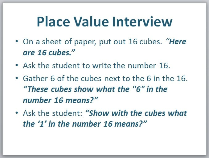 Place Value: How to Assess Students' Understanding by Marilyn Burns