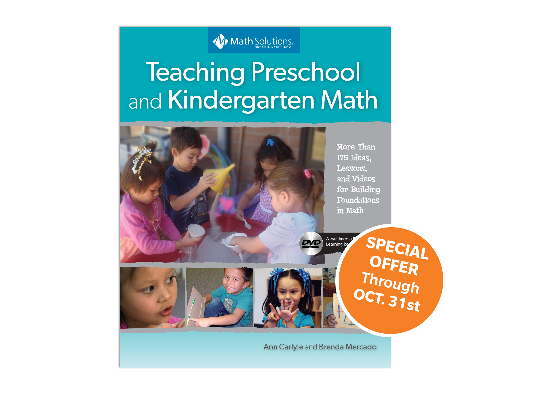 teaching preschool and kindergarten math book cover with special offer | special offer through oct 31st