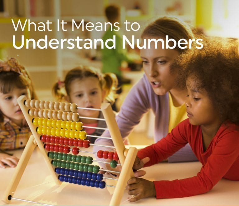 What it Means to Understand Numbers by Jennifer Van Zante