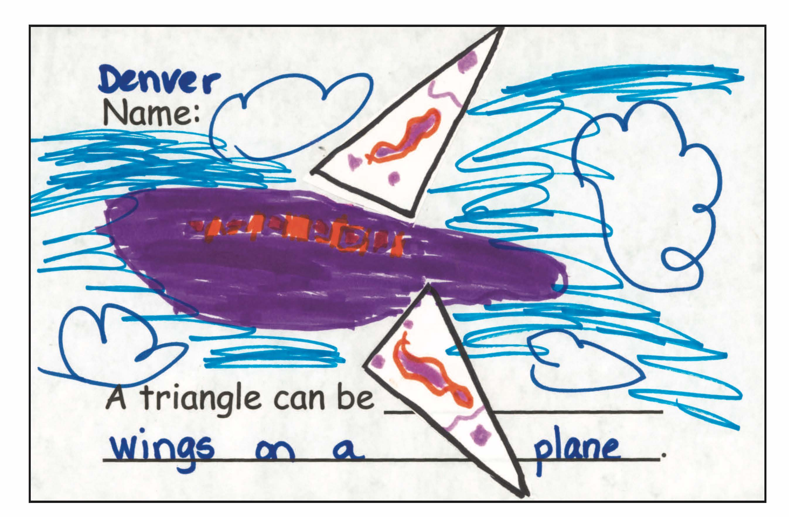 Figure 1. Denver used two triangles for the wings of an airplane.
