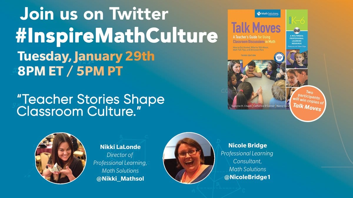 InspireMathCulture Twitter Chat with Nikki LaLonde and Nicole Bridge