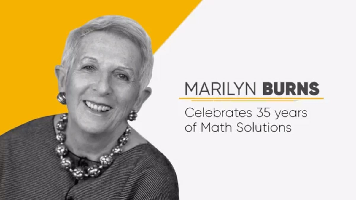 marilyn burns celebrates 35 years of math solutions