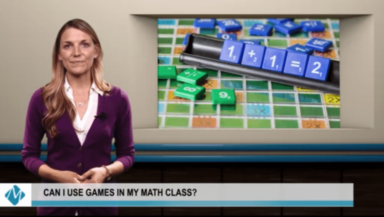 woman hosting a math video | can i use games in my math class